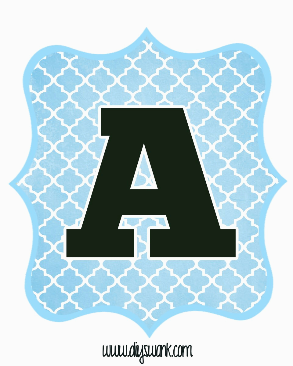 blue and black printable letters for banners