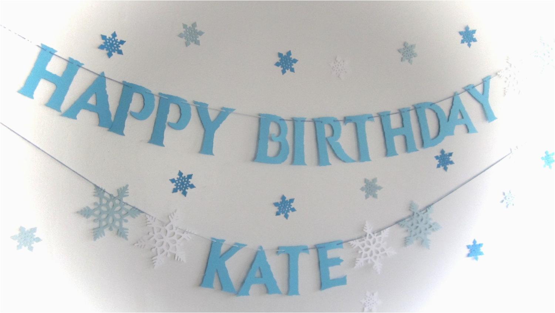frozen banner frozen birthday snowflake