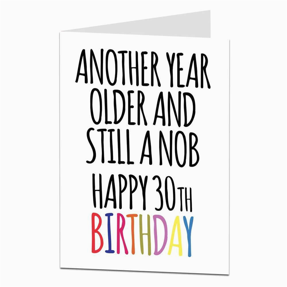 Funny 30th Birthday Gifts for Him Nz Funny 30th Birthday Card for Men Him Brother Friend Rude