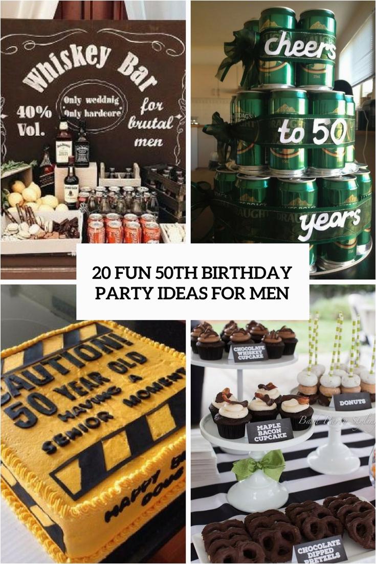 50th men birthday party ideas