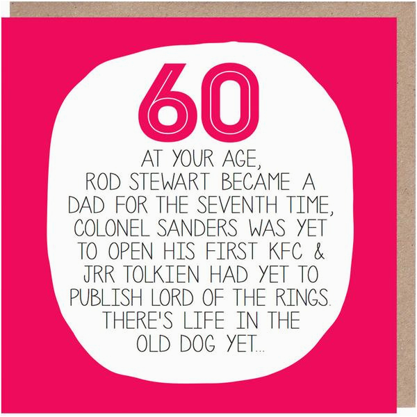 60th birthday card at your age