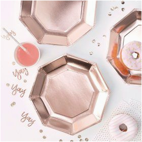 rose gold soiree party supplies