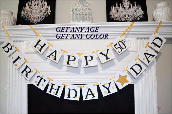 happy birthday dad banner 50th birthday