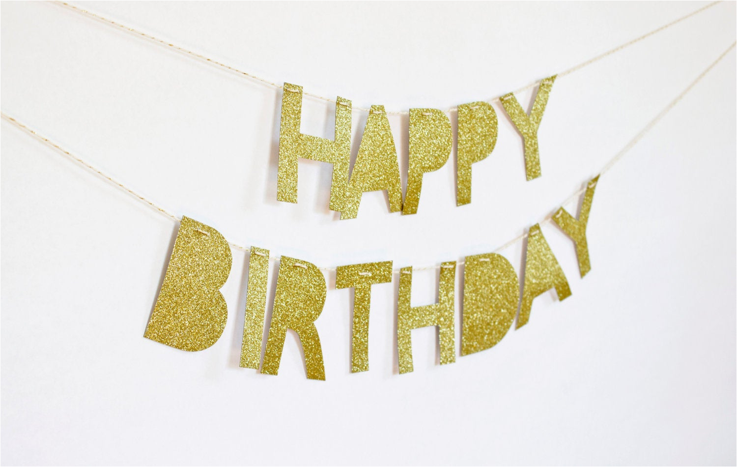 Gold Happy Birthday Banner Uk Happy Birthday Banner Gold Glitter