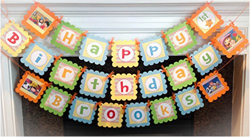26854293 little baby bum inspired happy birthday banner rainbow chevron yellow polka dots amp orange green yellow and blue accents party packs available