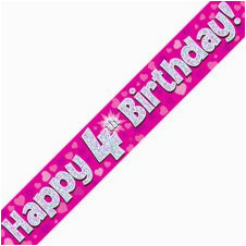 Happy 16th Birthday Banner Pink Back In Stock