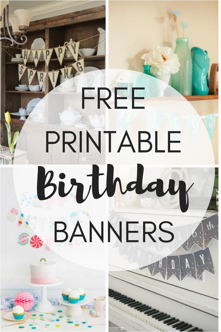 free printable birthday banners
