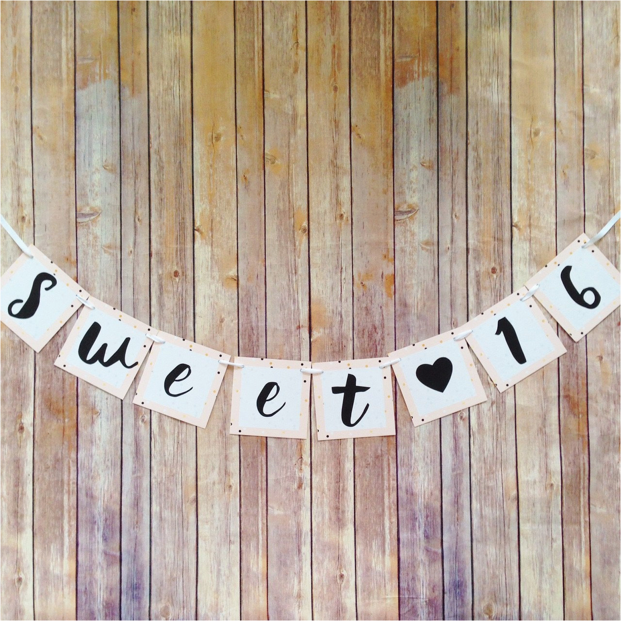 Happy 16th Birthday Banner Printable Sweet 16 Banner Pink Sweet 16 Birthday Banner Pink and Gold