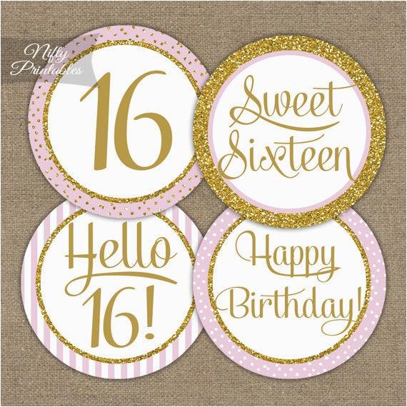sweet 16 birthday cupcake toppers sweet