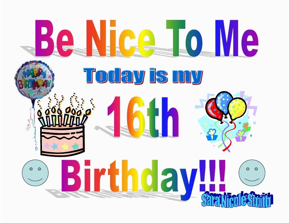 happy 16th birthday sign