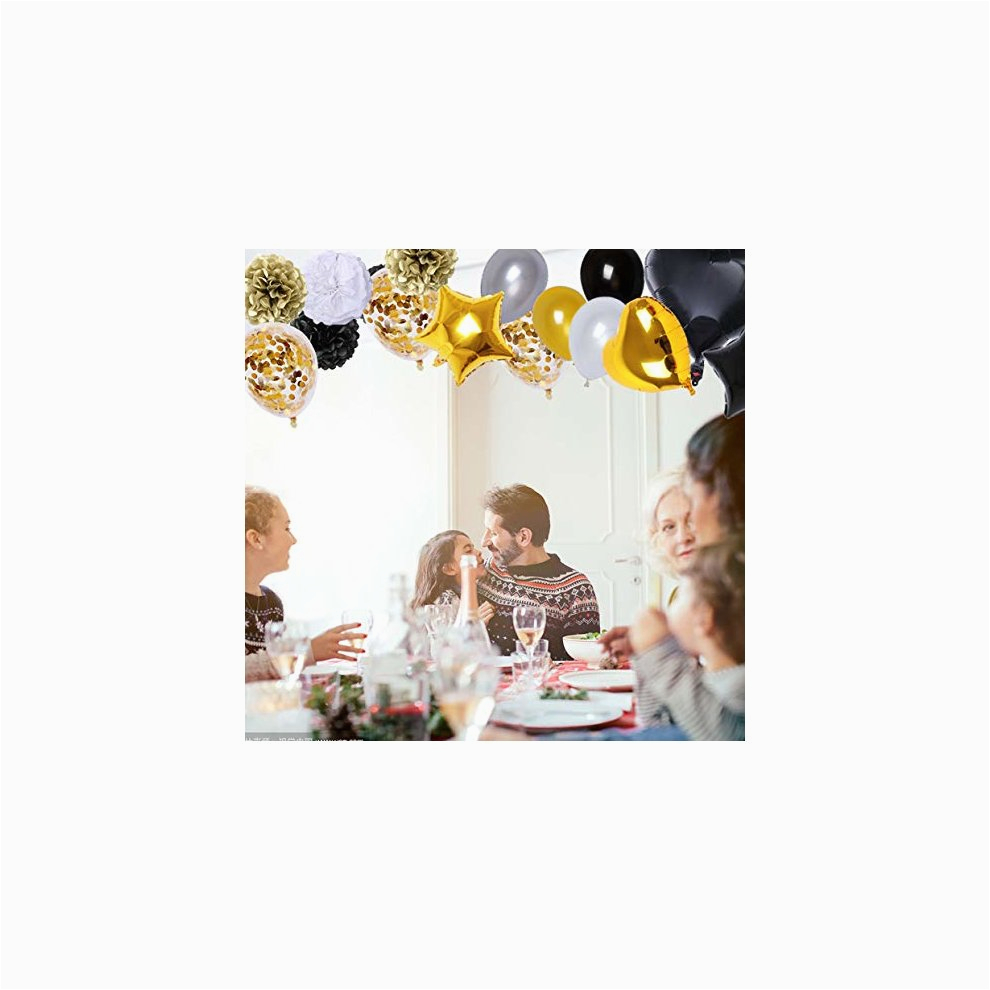 brt black and gold party decorations90pcs happy birthday banner star heart foil balloons 18th 20th 30th 40th 50th 60th 70th birthday decorations c5846 p7618979