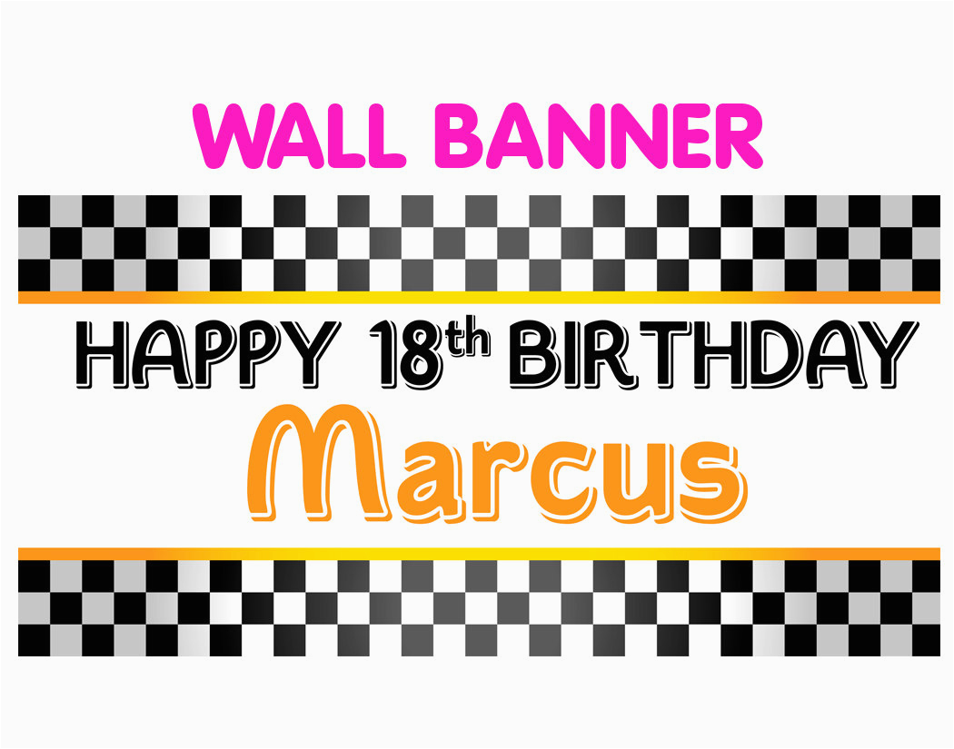 happy 18th birthday banner personalized