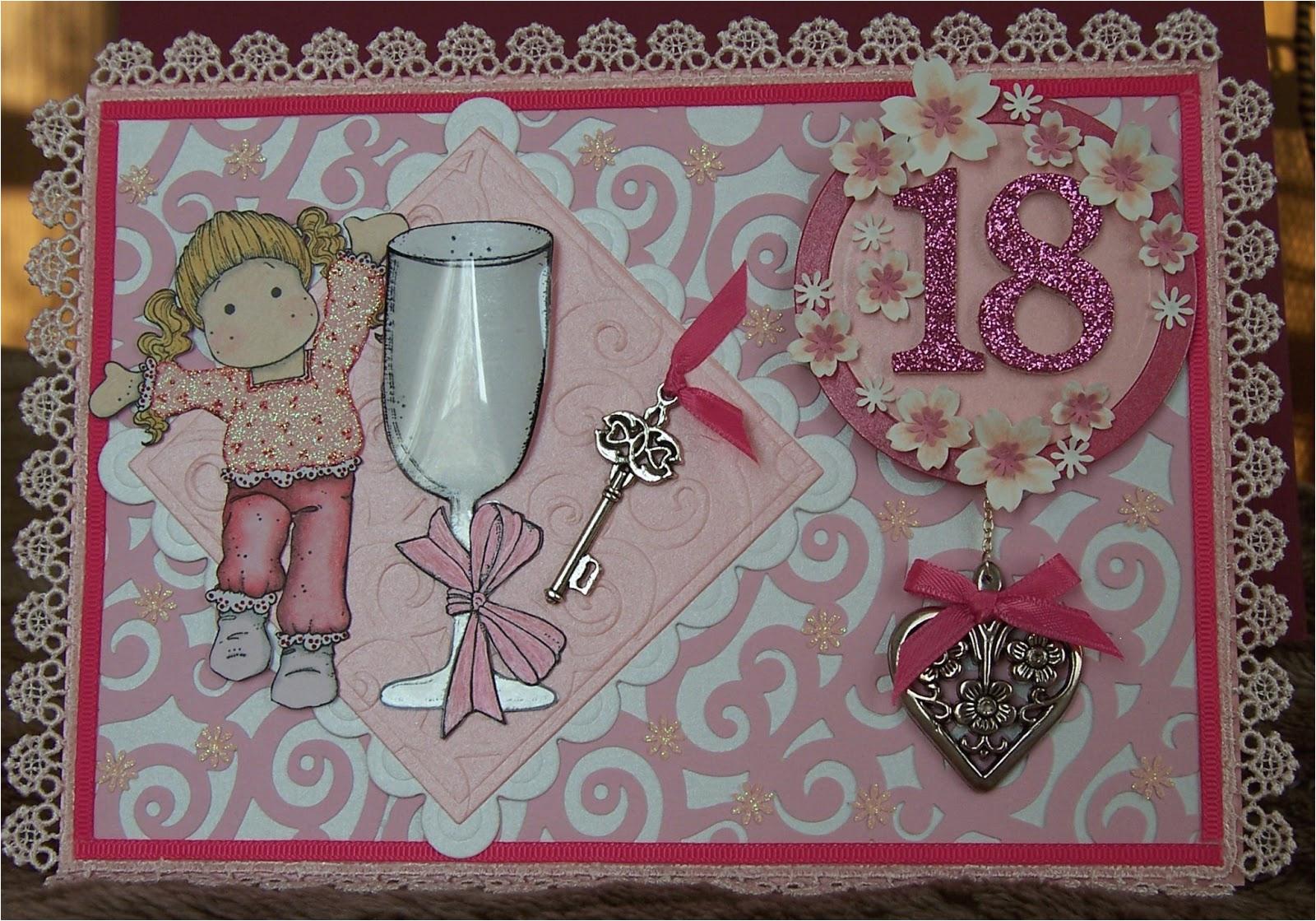 happy tilda 18th birthday card gift set