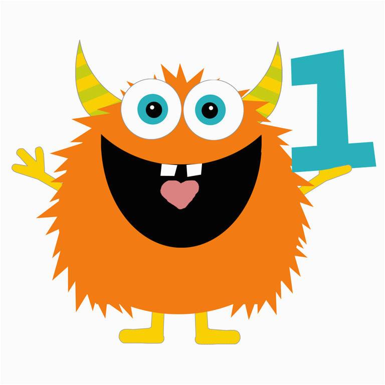 Happy 1st Birthday Banner Clipart Monster Birthday Clip Art by Shelleyspaperstudio On Etsy
