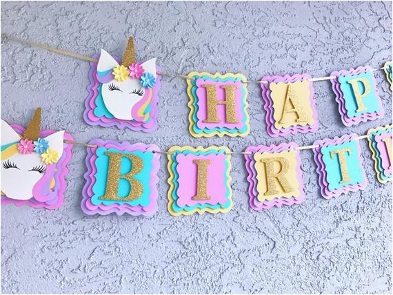 unicorn banner unicorn happy birthday