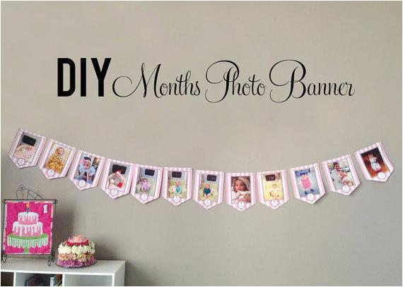 diy photo banner first birthday