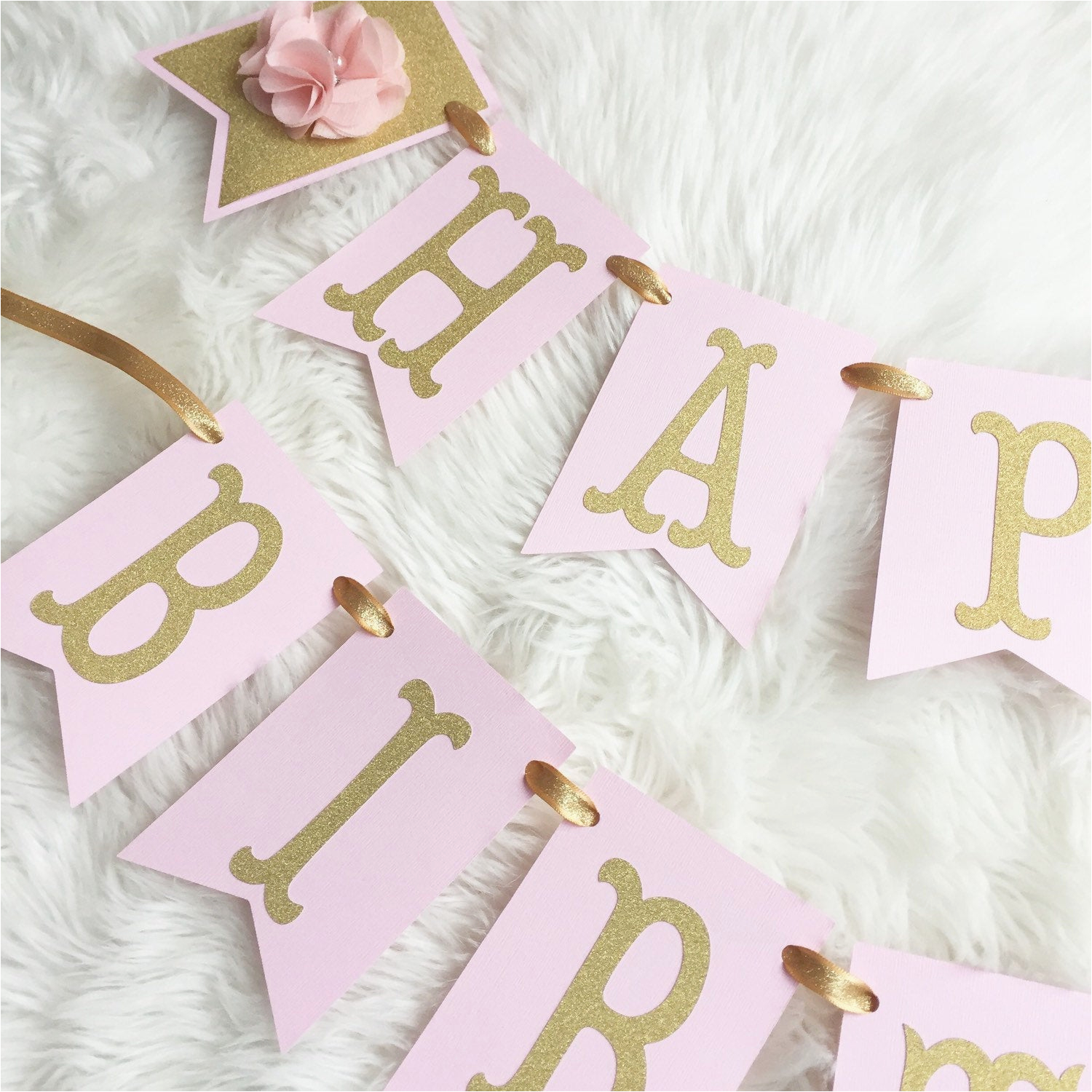 Happy 1st Birthday Banner Tesco Happy 1st Birthday Banner Pink and Gold by Sweetstoppartyshop