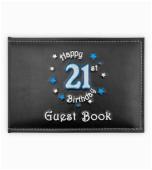 banner foil blue glitz happy 21st birthday