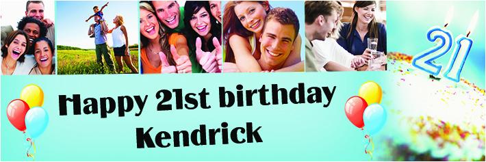 Happy 21st Birthday Banner Free Happy 21st Birthday Photo Collage Banner theme