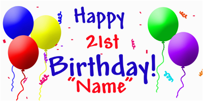 personalized 21st birthday banner