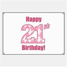 cute 21st birthday banners
