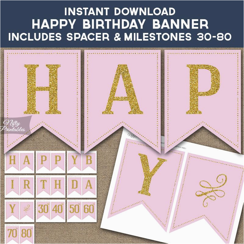 Happy 21st Birthday Banners Printable Pin by Jeaudine Bontemps On Annettes 50th Birthday Pink