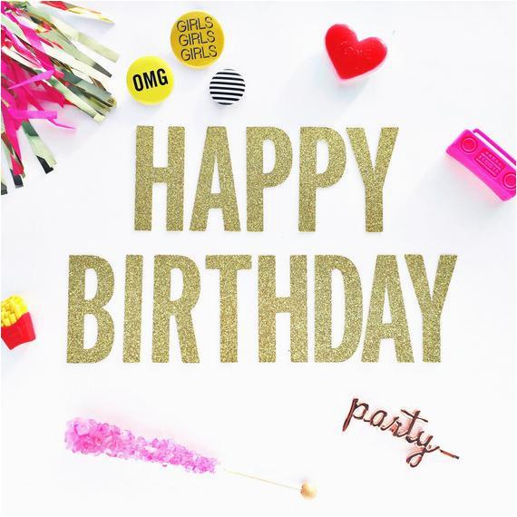 happy birthday banner garland 21st