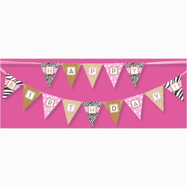 perfect party girl happy birthday banner p 109 pwba 024