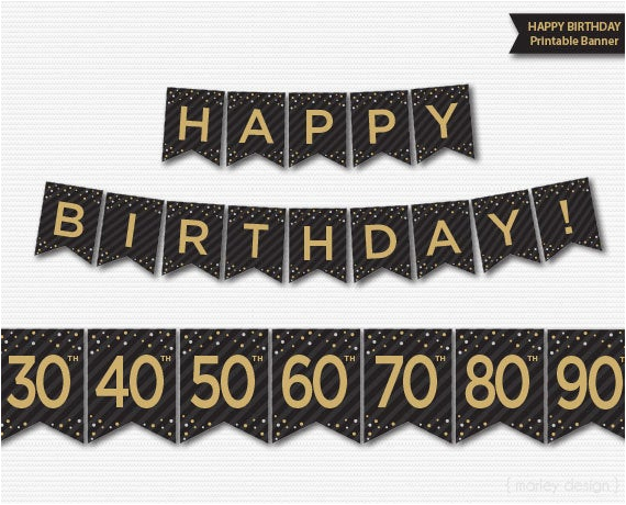happy birthday banner printable 30th