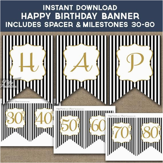 birthday banner printable happy birthday