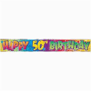 foil banner happy birthday 50th