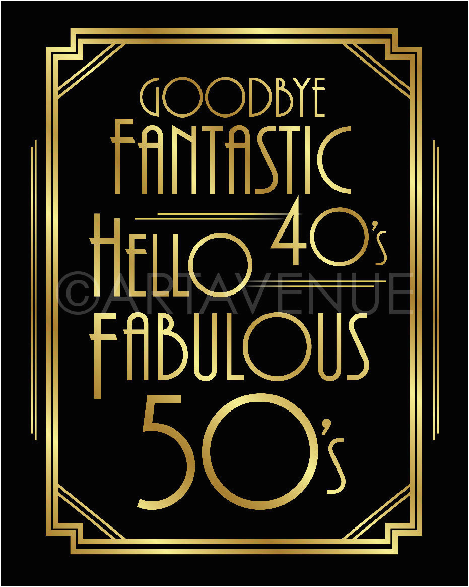printable 50th birthday signs