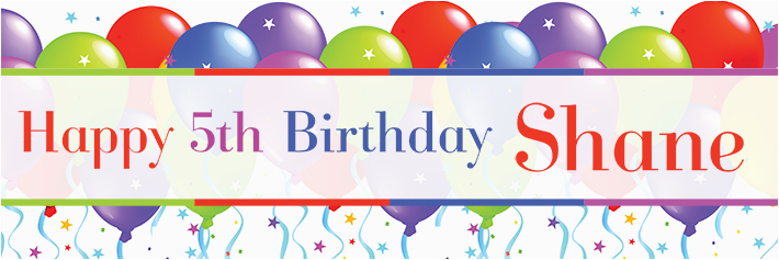 Happy 5th Birthday Banners 2nd Birthday Banner Photo Flags theme