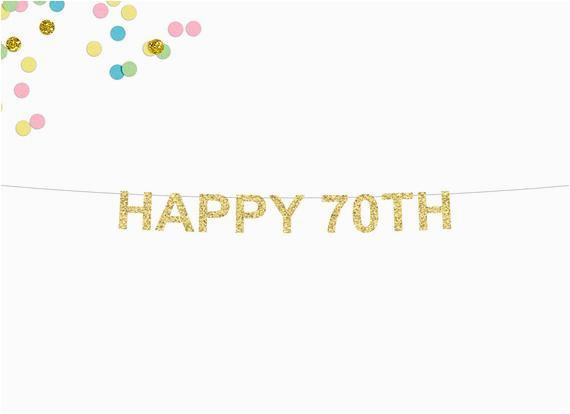 happy 70th glitter banner 70th birthday