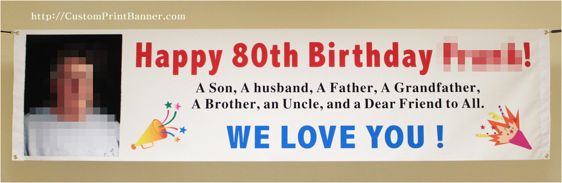 2ftx8ft custom personalized happy 80th 18th 20th 21st 30th 40th 50th 60th 70th 90th 100th birthday banner with your photo p 157
