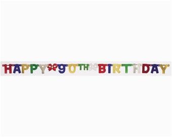 search q 90th birthday banner