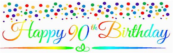 cakesupplyshop item090rpb happy 90th birthdayrainbow wall decoration party banner p 27446