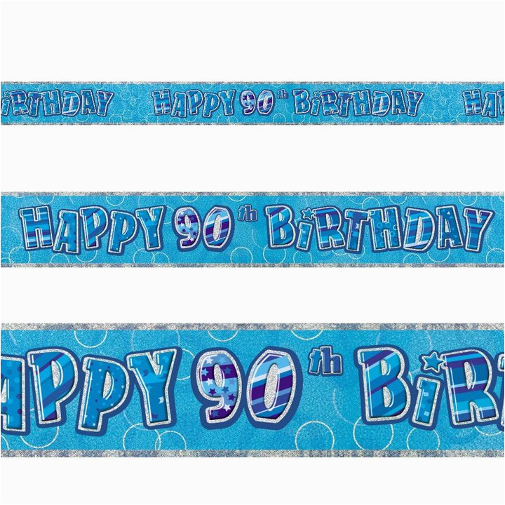 Happy 90th Birthday Banners Perfect for Celebrating Any 90th Birthday In Style This