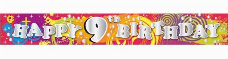 banner 9th birthday