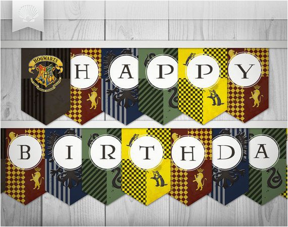 Happy 9th Birthday Banners Harry Potter Inspired Printables Quot Happy Birthday
