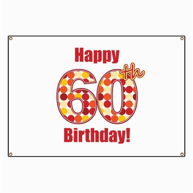 happy 60th birthday banner 834887607