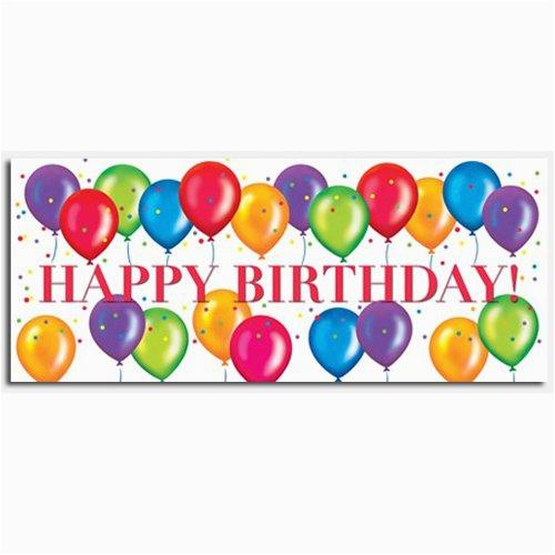 birthday balloons happy birthday banner