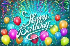stock photos happy birthday balloons banner image24917593