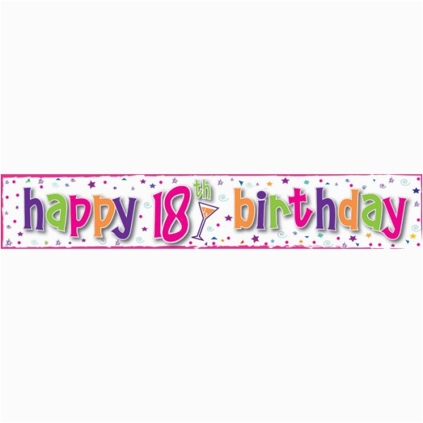 149 18th birthday banner pink