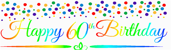 cakesupplyshop item060rpb happy 60th birthdayrainbow wall decoration party banner p 27416