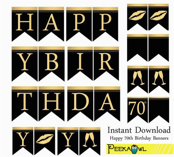 instant download happy 70th birthday