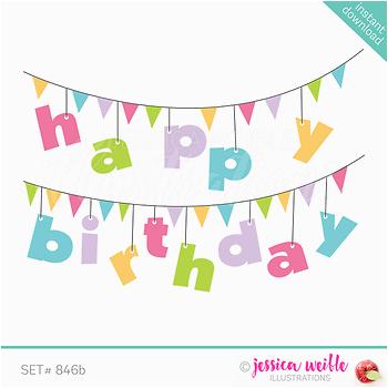 happy birthday banner clip art pink 3470969