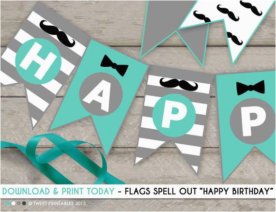Happy Birthday Banner Australia Little Man Happy Birthday Banner Instant Download Little Man