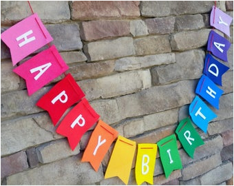 printable happy birthday banner rainbow