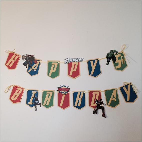 avengers birthday banner marvel avengers